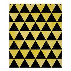 Triangle3 Black Marble & Yellow Watercolor Shower Curtain 60  X 72  (medium)