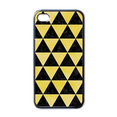 Triangle3 Black Marble & Yellow Watercolor Apple Iphone 4 Case (black)