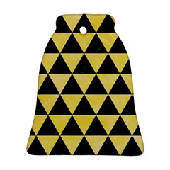 Triangle3 Black Marble & Yellow Watercolor Ornament (bell)