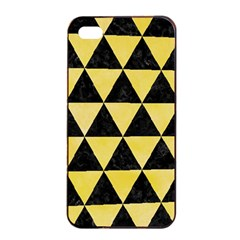 Triangle3 Black Marble & Yellow Watercolor Apple Iphone 4/4s Seamless Case (black)