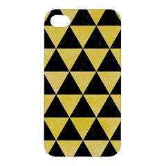Triangle3 Black Marble & Yellow Watercolor Apple Iphone 4/4s Hardshell Case