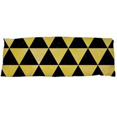 Triangle3 Black Marble & Yellow Watercolor Body Pillow Case (dakimakura)