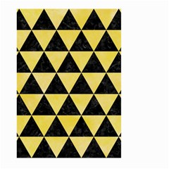 Triangle3 Black Marble & Yellow Watercolor Large Garden Flag (two Sides)