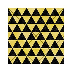 Triangle3 Black Marble & Yellow Watercolor Acrylic Tangram Puzzle (6  X 6 )
