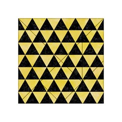 Triangle3 Black Marble & Yellow Watercolor Acrylic Tangram Puzzle (4  X 4 )