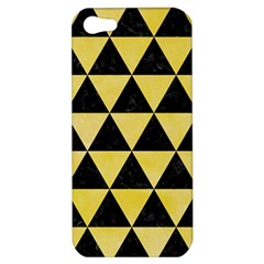 Triangle3 Black Marble & Yellow Watercolor Apple Iphone 5 Hardshell Case