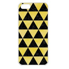 Triangle3 Black Marble & Yellow Watercolor Apple Iphone 5 Seamless Case (white)