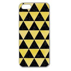 Triangle3 Black Marble & Yellow Watercolor Apple Seamless Iphone 5 Case (clear)