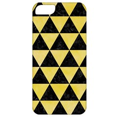 Triangle3 Black Marble & Yellow Watercolor Apple Iphone 5 Classic Hardshell Case
