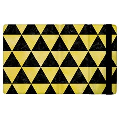 Triangle3 Black Marble & Yellow Watercolor Apple Ipad 2 Flip Case
