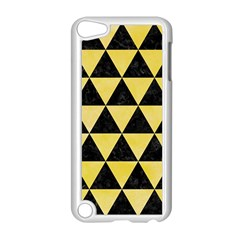 Triangle3 Black Marble & Yellow Watercolor Apple Ipod Touch 5 Case (white)