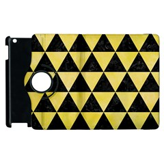 Triangle3 Black Marble & Yellow Watercolor Apple Ipad 3/4 Flip 360 Case
