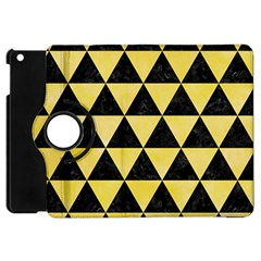 Triangle3 Black Marble & Yellow Watercolor Apple Ipad Mini Flip 360 Case
