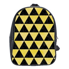Triangle3 Black Marble & Yellow Watercolor School Bag (xl)