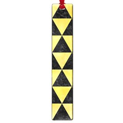 Triangle3 Black Marble & Yellow Watercolor Large Book Marks