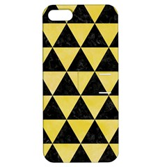 Triangle3 Black Marble & Yellow Watercolor Apple Iphone 5 Hardshell Case With Stand
