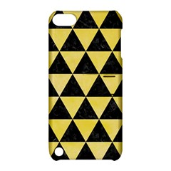 Triangle3 Black Marble & Yellow Watercolor Apple Ipod Touch 5 Hardshell Case With Stand