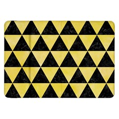 Triangle3 Black Marble & Yellow Watercolor Samsung Galaxy Tab 8 9  P7300 Flip Case