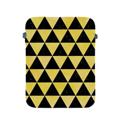 Triangle3 Black Marble & Yellow Watercolor Apple Ipad 2/3/4 Protective Soft Cases
