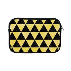 Triangle3 Black Marble & Yellow Watercolor Apple Ipad Mini Zipper Cases