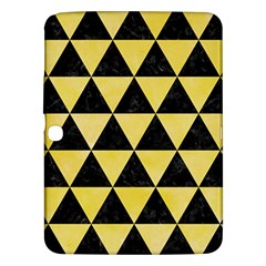 Triangle3 Black Marble & Yellow Watercolor Samsung Galaxy Tab 3 (10 1 ) P5200 Hardshell Case