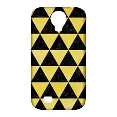 Triangle3 Black Marble & Yellow Watercolor Samsung Galaxy S4 Classic Hardshell Case (pc+silicone)