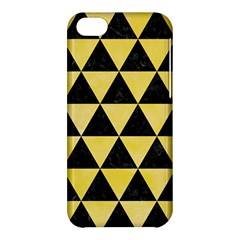 Triangle3 Black Marble & Yellow Watercolor Apple Iphone 5c Hardshell Case