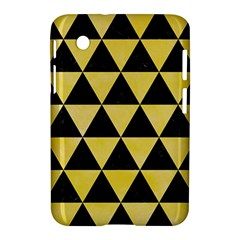 Triangle3 Black Marble & Yellow Watercolor Samsung Galaxy Tab 2 (7 ) P3100 Hardshell Case