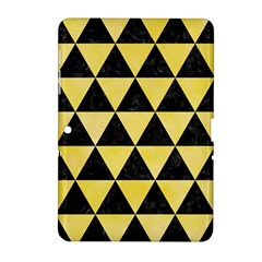 Triangle3 Black Marble & Yellow Watercolor Samsung Galaxy Tab 2 (10 1 ) P5100 Hardshell Case