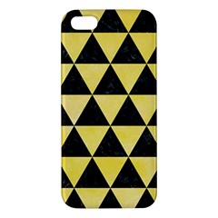 Triangle3 Black Marble & Yellow Watercolor Iphone 5s/ Se Premium Hardshell Case