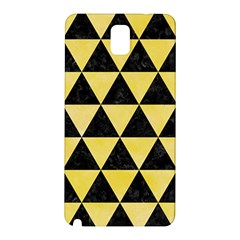 Triangle3 Black Marble & Yellow Watercolor Samsung Galaxy Note 3 N9005 Hardshell Back Case