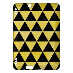 Triangle3 Black Marble & Yellow Watercolor Kindle Fire Hdx Hardshell Case