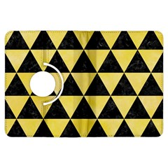 Triangle3 Black Marble & Yellow Watercolor Kindle Fire Hdx Flip 360 Case