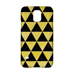 Triangle3 Black Marble & Yellow Watercolor Samsung Galaxy S5 Hardshell Case