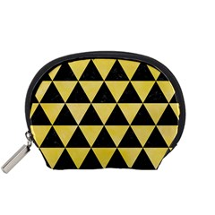 Triangle3 Black Marble & Yellow Watercolor Accessory Pouches (small)