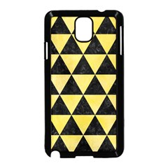 Triangle3 Black Marble & Yellow Watercolor Samsung Galaxy Note 3 Neo Hardshell Case (black)