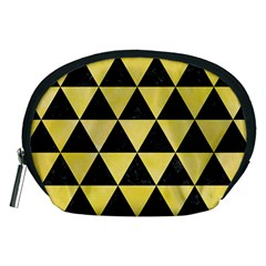 Triangle3 Black Marble & Yellow Watercolor Accessory Pouches (medium)