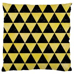 Triangle3 Black Marble & Yellow Watercolor Standard Flano Cushion Case (two Sides)