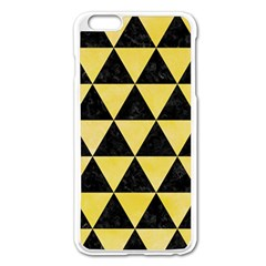 Triangle3 Black Marble & Yellow Watercolor Apple Iphone 6 Plus/6s Plus Enamel White Case