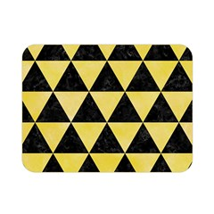 Triangle3 Black Marble & Yellow Watercolor Double Sided Flano Blanket (mini)