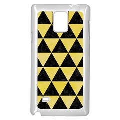 Triangle3 Black Marble & Yellow Watercolor Samsung Galaxy Note 4 Case (white)