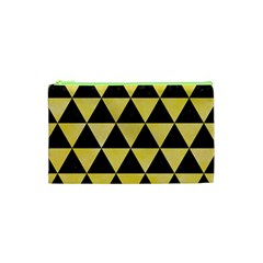 Triangle3 Black Marble & Yellow Watercolor Cosmetic Bag (xs)