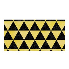 Triangle3 Black Marble & Yellow Watercolor Satin Wrap