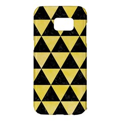Triangle3 Black Marble & Yellow Watercolor Samsung Galaxy S7 Edge Hardshell Case