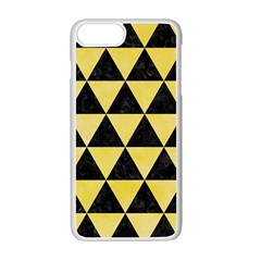 Triangle3 Black Marble & Yellow Watercolor Apple Iphone 7 Plus Seamless Case (white)