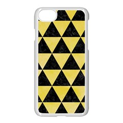 Triangle3 Black Marble & Yellow Watercolor Apple Iphone 7 Seamless Case (white)