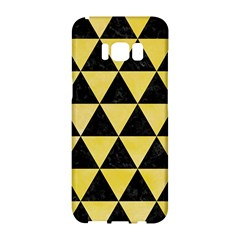 Triangle3 Black Marble & Yellow Watercolor Samsung Galaxy S8 Hardshell Case