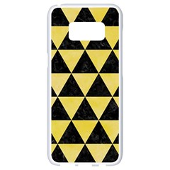 Triangle3 Black Marble & Yellow Watercolor Samsung Galaxy S8 White Seamless Case