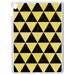 Triangle3 Black Marble & Yellow Watercolor Apple Ipad Pro 9 7   White Seamless Case