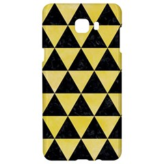 Triangle3 Black Marble & Yellow Watercolor Samsung C9 Pro Hardshell Case